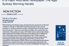 MADE IN SWEDEN the non fiction pick of the week in Sydney Morning Herald, Australia, July 2019.
