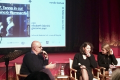 The author talking about 1947  with journalist and writer Giacomo Papi, Milano 2019